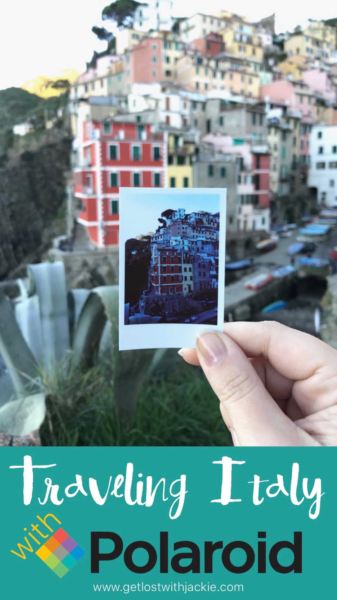 Traveling Italy With Polaroid. A Photo of a Photo Series in Italy. Polaroid Snap Photos in Italy.