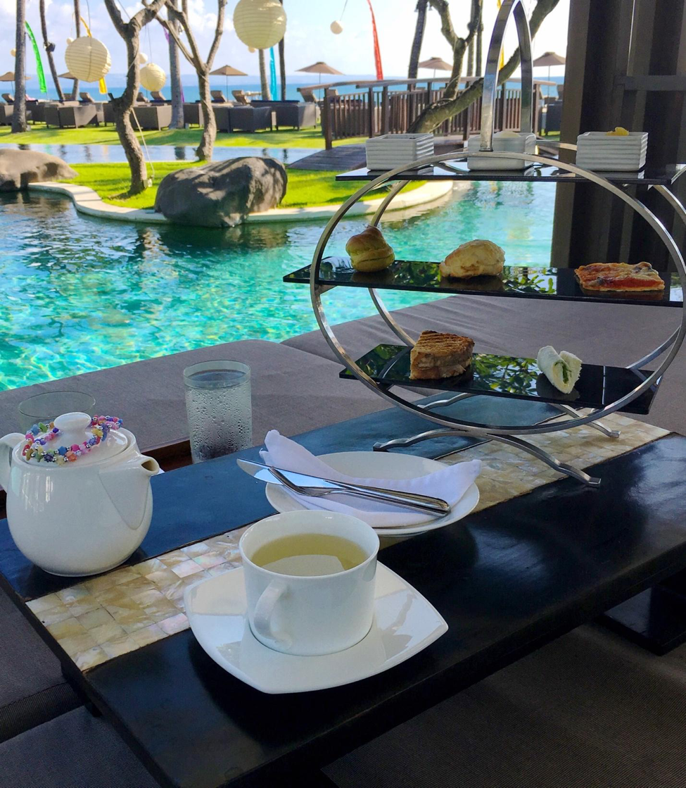 Another amenity I fully enjoyed was that each guest is welcome to afternoon tea, served wherever they'd like. I opted to have my afternoon tea by the main pool and had it served with lemongrass tea (a must when visiting Bali!).
