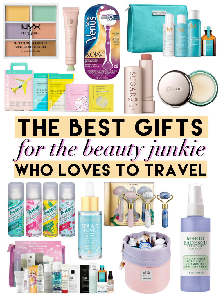the best gifts for the beauty junkie who loves to travel